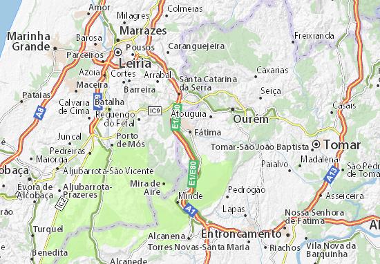 mapa da cidade de fatima em portugal Mapa Fátima   plano Fátima  ViaMichelin mapa da cidade de fatima em portugal