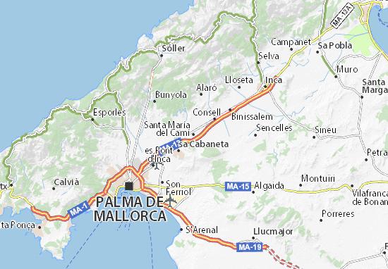 Santa María del Camí Map