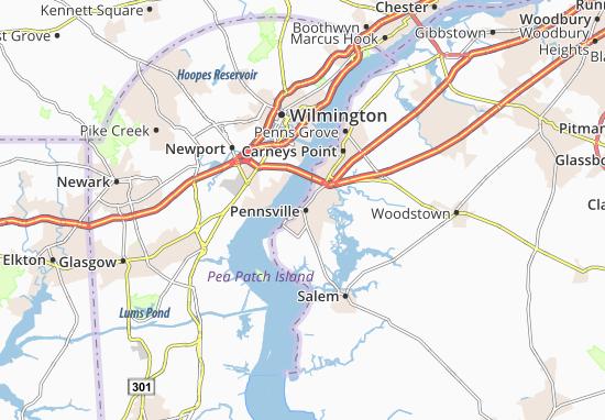 Carte-Plan Pennsville