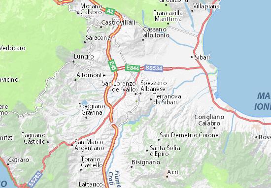 Carte-Plan San Lorenzo del Vallo