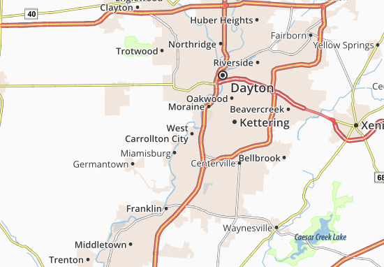 Carte-Plan West Carrollton City