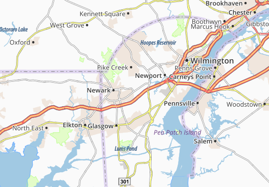 Ogletown Map