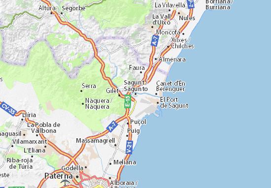 Sagunto Map