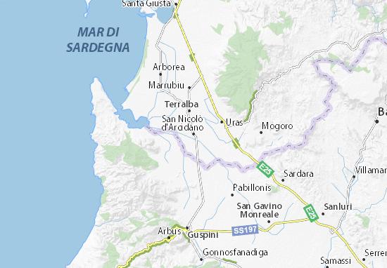 San Nicolò d'Arcidano Map