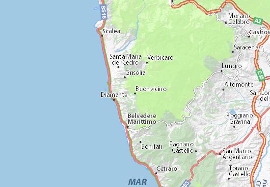 Buonvicino Map