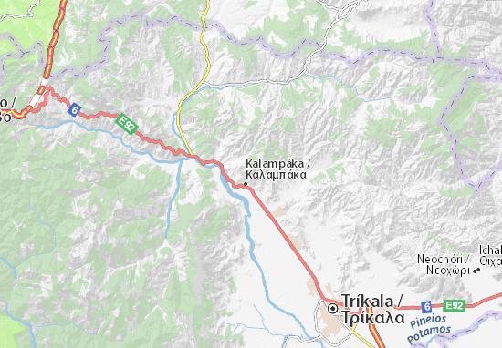 Meteora Klöster Karte.Karte Stadtplan Meteora Viamichelin