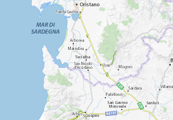 Terralba Map