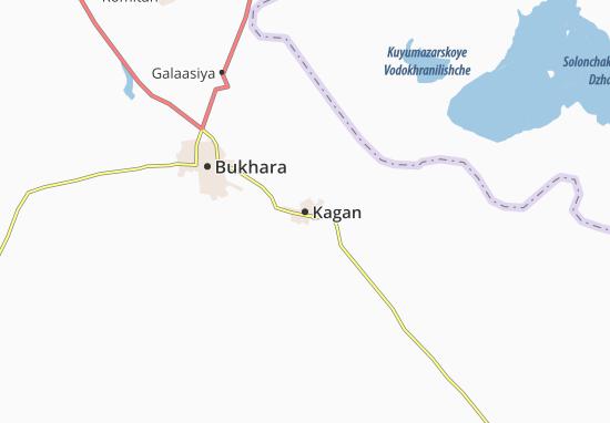 Kaart Plattegrond Kagan