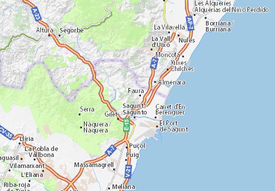 Mapas-Planos Benifairó de les Valls