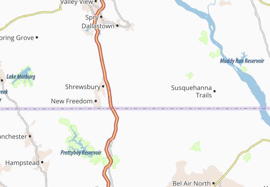 Stewartstown Map