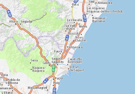 Kaart Plattegrond Almenara