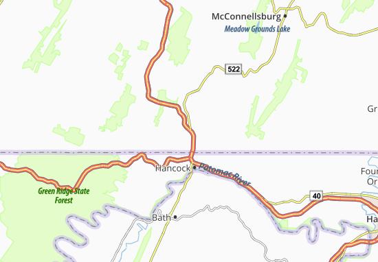 Mapas-Planos Warfordsburg