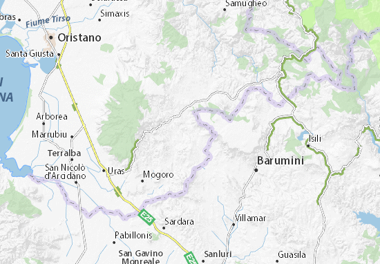 Cartina Sardegna Uras.Mappa Michelin Gonnosno Pinatina Di Gonnosno Viamichelin