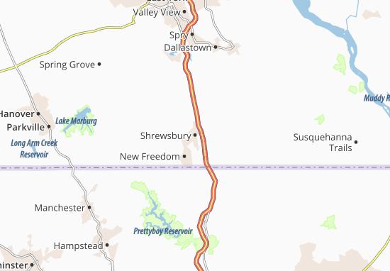 Mappe-Piantine Shrewsbury