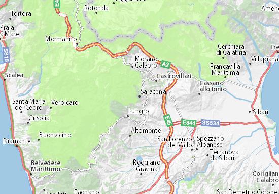 Saracena Map