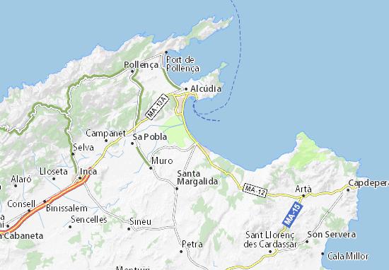 Playa De Muro Karte.Platja De Muro Map Detailed Maps For The City Of Platja De