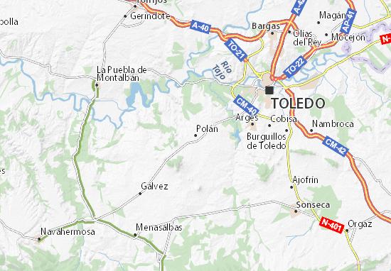 Mapa Provincia Toledo Carreteras.Mapa Polan Plano Polan Viamichelin