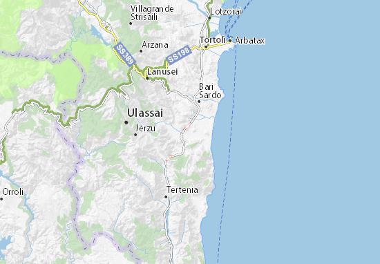 Arbatax Cartina Geografica.Mappa Michelin Cardedu Pinatina Di Cardedu Viamichelin