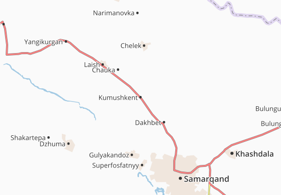 Mapas-Planos Kumushkent