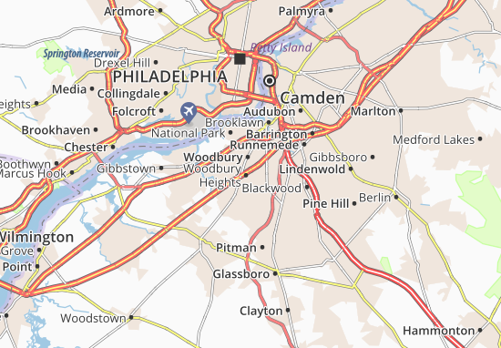 Woodbury Heights Map