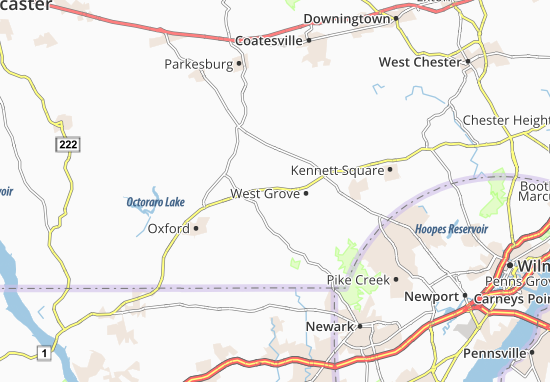 Jennersville Map
