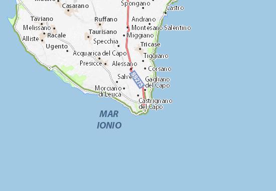 Mapas-Planos Castrignano del Capo