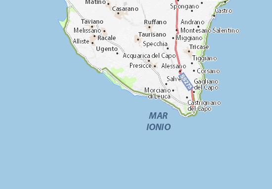Cartina Puglia Ionio.Mappa Michelin Torre Pali Pinatina Di Torre Pali Viamichelin