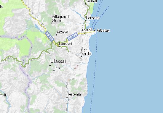 Cartina Sardegna Barisardo.Mappa Michelin Bari Sardo Pinatina Di Bari Sardo Viamichelin
