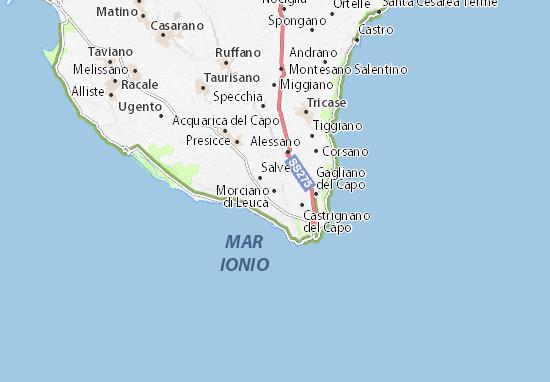 Morciano di Leuca Map