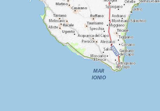 Cartina Puglia Lido Marini.Michelin Lido Marini Map Viamichelin