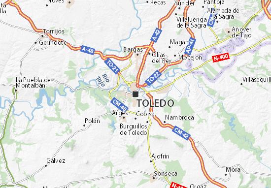 Mapa Provincia Toledo Carreteras.Mapa Toledo Plano Toledo Viamichelin