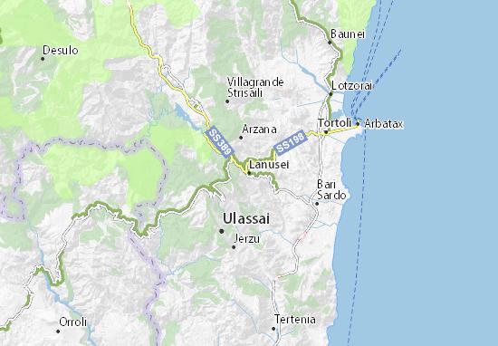 Cartina Satellitare Sardegna.Mappa Michelin Lanusei Pinatina Di Lanusei Viamichelin