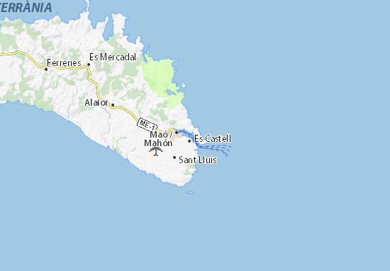 Cala Llonga Map: Detailed maps for the city of Cala Llonga