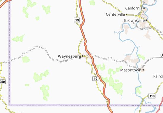 Waynesburg Map