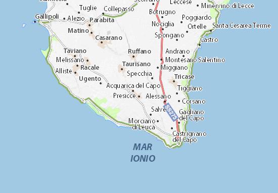 Presicce Map