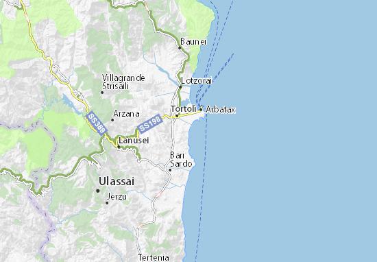 Cartina Satellitare Sardegna.Mappa Michelin Lido Orri Pinatina Di Lido Orri Viamichelin