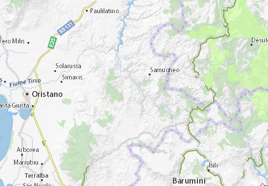 Cartina Michelin Sardegna.Mappa Michelin Ruinas Pinatina Di Ruinas Viamichelin