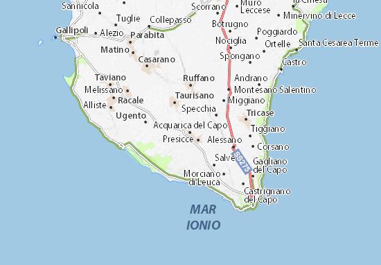 Acquarica del Capo Map