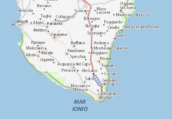 Kaart Plattegrond Specchia