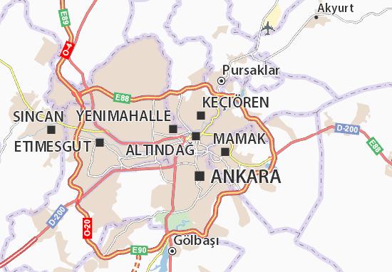 Altındağ Map