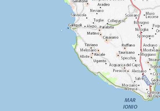 Mappa Puglia Ugento.Mappa Michelin Torre Suda Pinatina Di Torre Suda Viamichelin