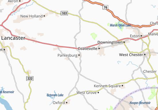 Parkesburg Map