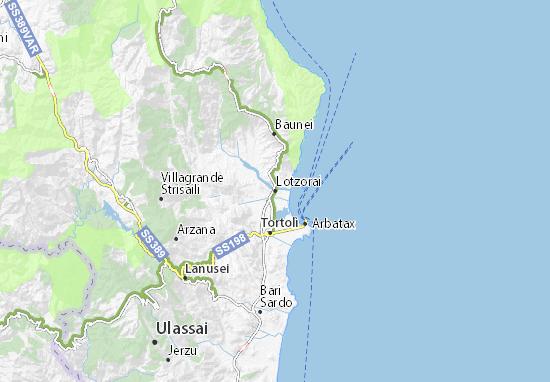 Cartina Sardegna Fiumi.Mappa Michelin Lotzorai Pinatina Di Lotzorai Viamichelin