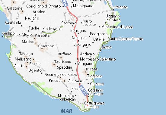 Map of Castiglione   Michelin Castiglione map   ViaMichelin
