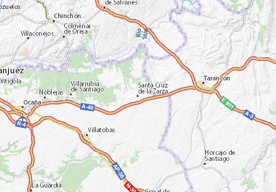 Mapa Santa Cruz de la Zarza plano Santa Cruz de la Zarza