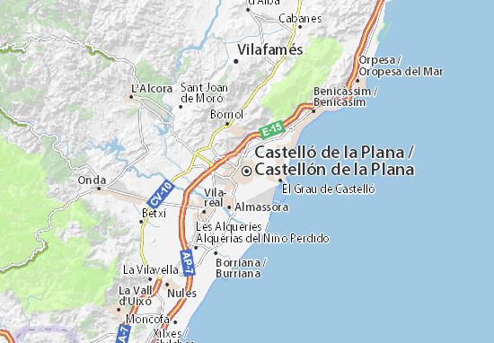 Castellón de la Plana Map