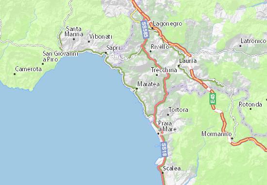 Mapa Porto di Maratea   plano Porto di Maratea   ViaMichelin