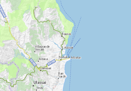 Arbatax Sardegna Cartina.Mappa Michelin Santa Maria Navarrese Pinatina Di Santa Maria Navarrese Viamichelin