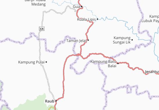 Kaart Plattegrond Kampung Baharu Benta