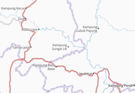 Kaart Plattegrond Kampung Sungai Lik